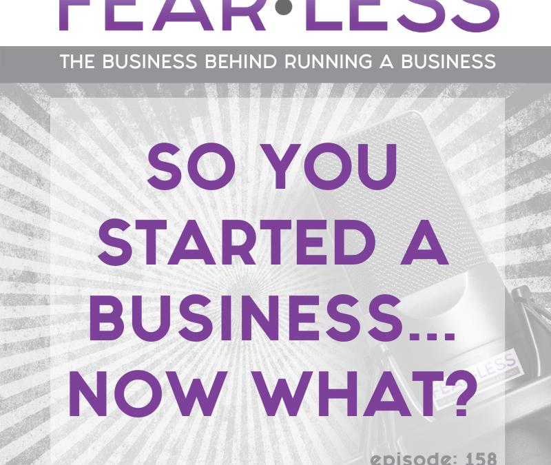 Episode 158 – So You Started A Business…Now What?